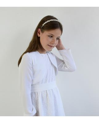 Ella weiß (Kommunionkleid Vintage lang) färbbar
